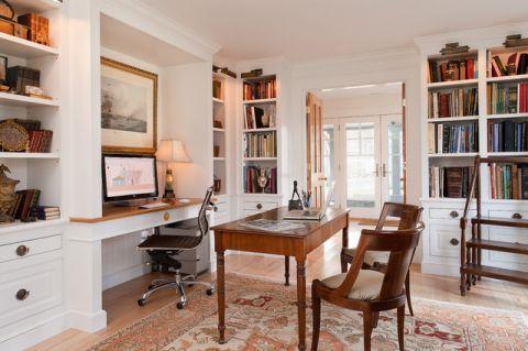 书房细节简欧风格装潢设计图片