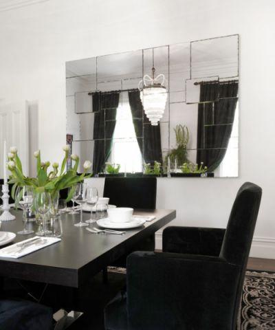 餐厅白色细节简欧风格装潢设计图片