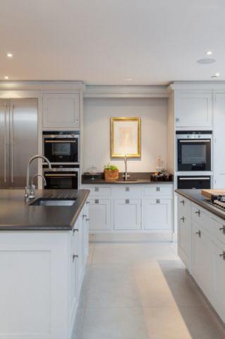 厨房白色橱柜简欧风格装饰效果图