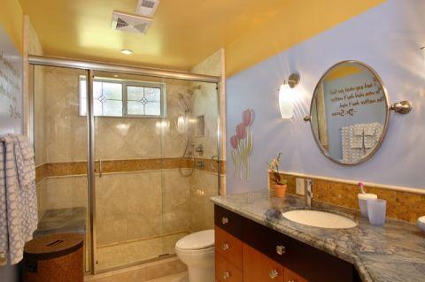 卫生间紫色细节简欧风格效果图