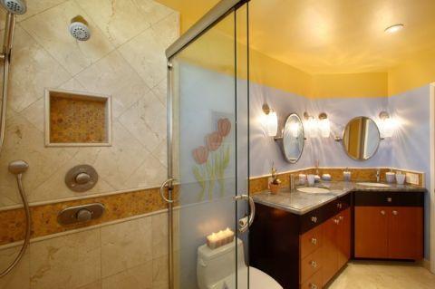 卫生间黄色细节简欧风格装修效果图