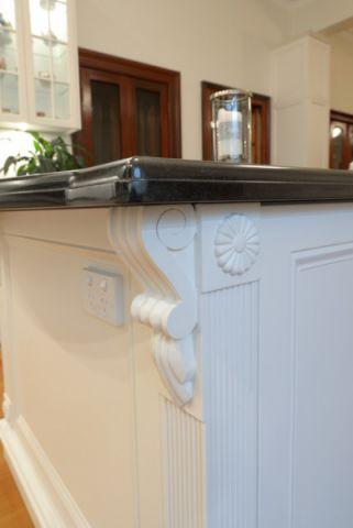 厨房白色细节简欧风格装饰设计图片