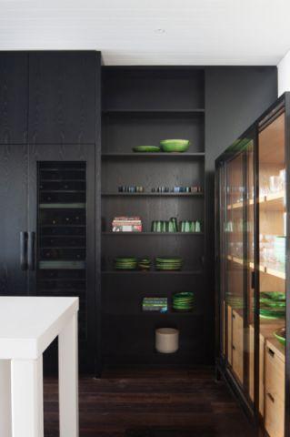 厨房黑色细节简欧风格效果图