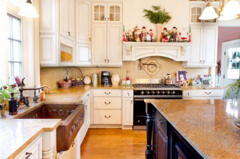 厨房白色细节简欧风格装潢效果图