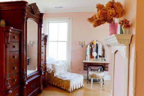 卧室粉色细节简欧风格装饰设计图片