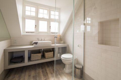卫生间白色隔断简欧风格装修效果图