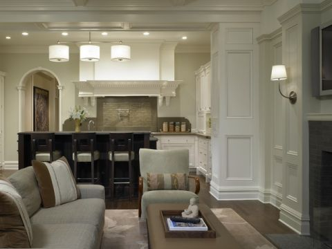 客厅白色细节简欧风格装潢图片