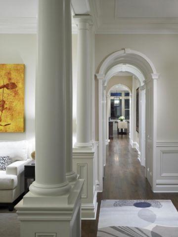 客厅白色走廊简欧风格效果图