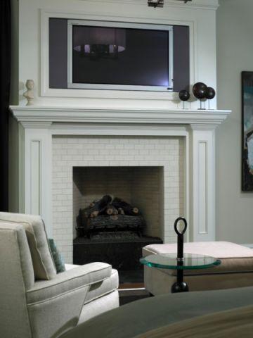 卧室白色背景墙简欧风格装修效果图