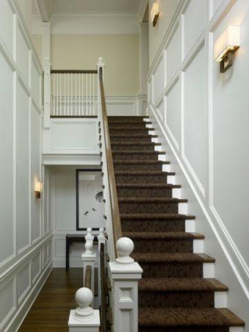 咖啡色楼梯简欧风格装饰效果图