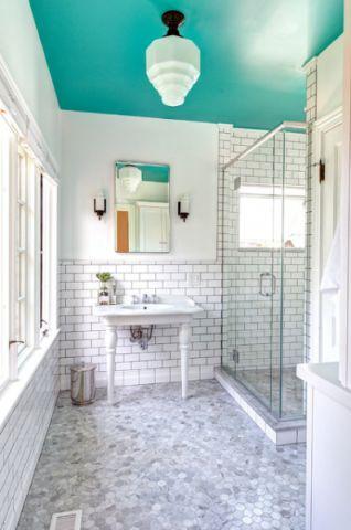 卫生间白色细节简欧风格装修图片
