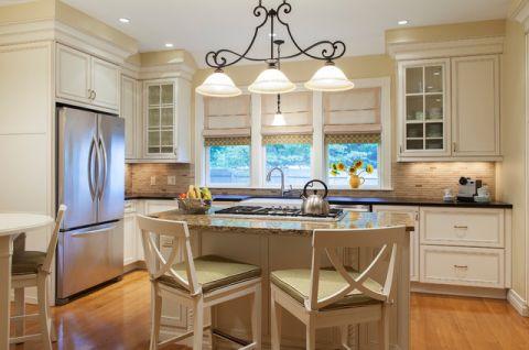 厨房白色细节简欧风格装饰图片