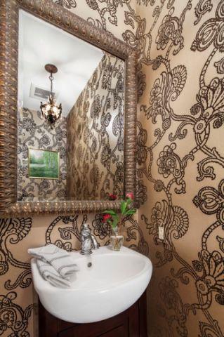 卫生间咖啡色细节简欧风格装饰设计图片
