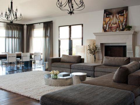 客厅飘窗混搭风格装潢图片