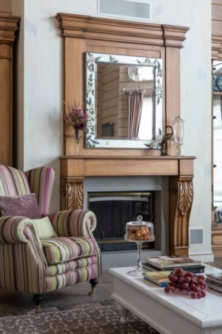 客厅背景墙混搭风格装修图片