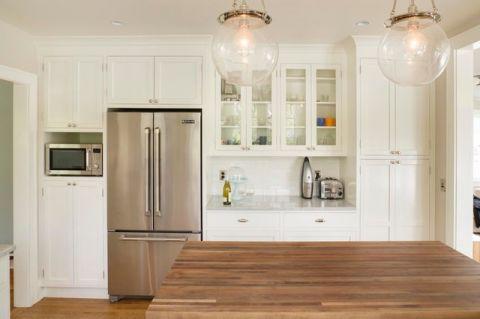 清新自然混搭风格厨房装修效果图_土拨鼠2017装修图片大全