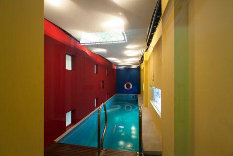 泳池混搭风格装饰设计图片