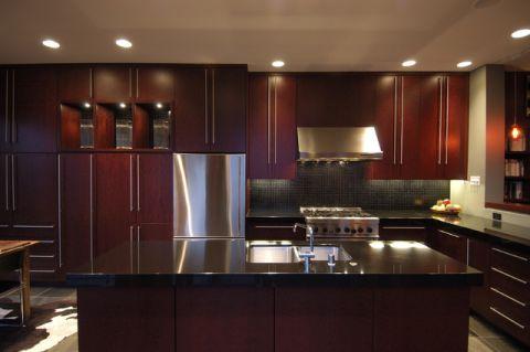 厨房吧台混搭风格装饰图片