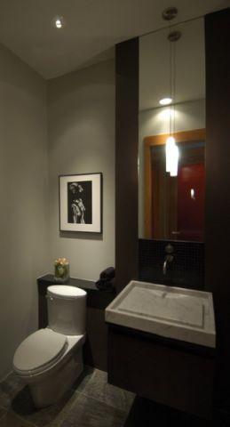 卫生间橱柜混搭风格装潢设计图片