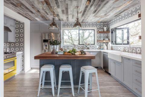 厨房吧台混搭风格装潢效果图