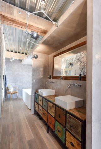 时尚创意混搭风格浴室装修效果图_土拨鼠2017装修图片大全