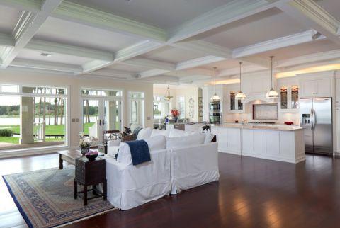 完美舒适美式风格客厅装修效果图_土拨鼠2017装修图片大全