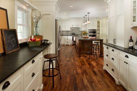 厨房走廊美式风格装潢效果图