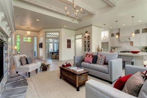 客厅细节美式风格装修效果图