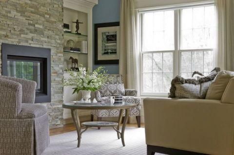 客厅细节美式风格装潢图片