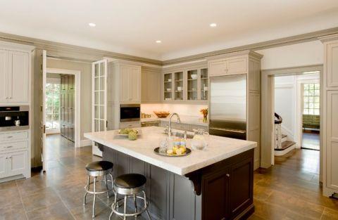 厨房吧台美式风格装潢图片