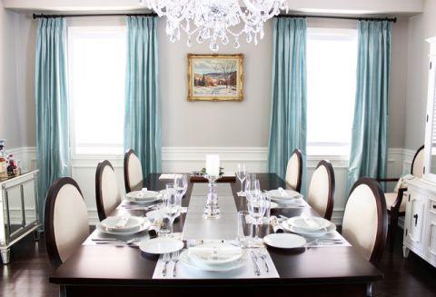 餐厅窗帘美式风格装修图片