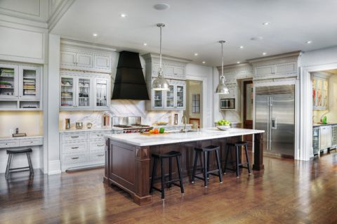 厨房吧台美式风格装潢设计图片