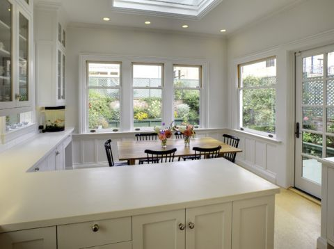 厨房吧台美式风格装饰设计图片