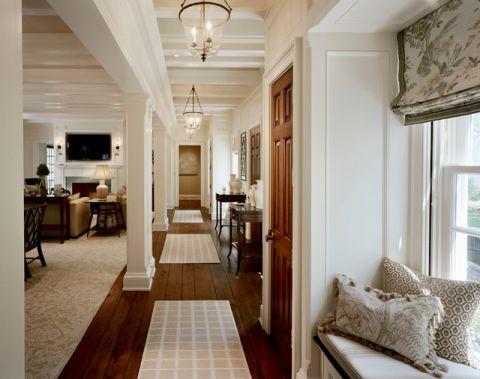 玄关白色门厅美式风格装潢效果图