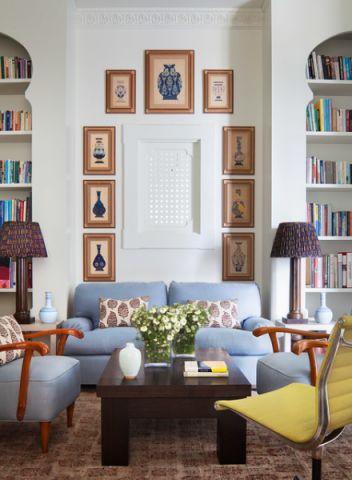 充满活力美式风格客厅装修效果图_土拨鼠2017装修图片大全