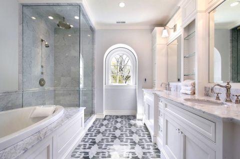 简洁优雅美式风格浴室装修效果图_土拨鼠2017装修图片大全