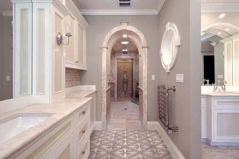 卫生间走廊美式风格装修设计图片