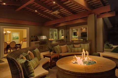 客厅咖啡色吊顶美式风格装潢设计图片