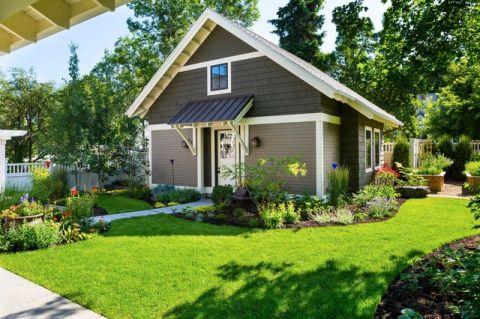 花园绿色美式风格装饰设计图片
