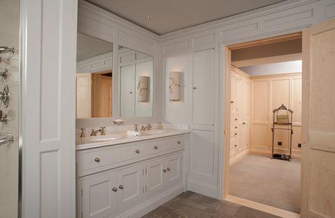 卫生间背景墙美式风格装饰设计图片
