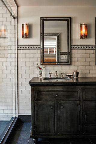 卫生间米色细节美式风格装饰设计图片