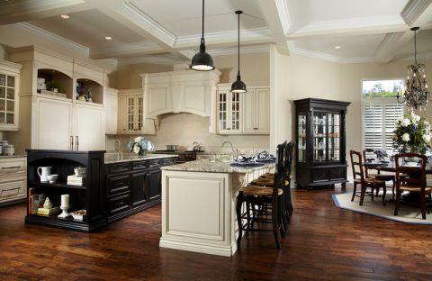 厨房米色吊顶美式风格装潢图片