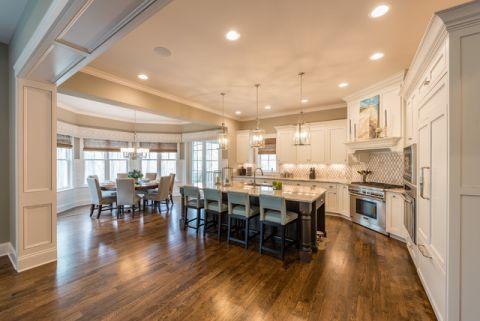 厨房米色吊顶美式风格装修效果图