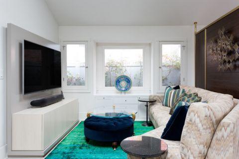 客厅白色细节美式风格装饰设计图片
