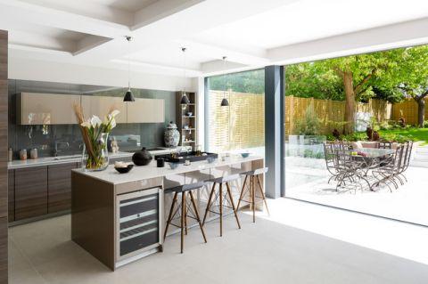 厨房绿色背景墙美式风格装饰图片