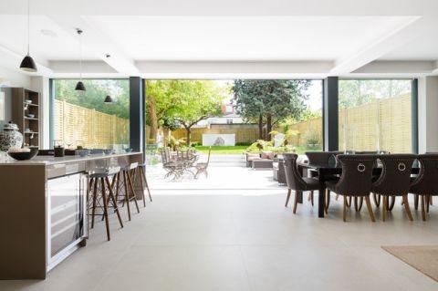 厨房绿色飘窗美式风格装饰设计图片