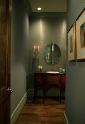 卫生间绿色背景墙美式风格效果图