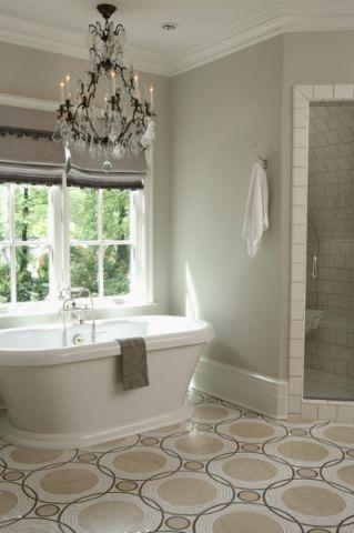 卫生间绿色背景墙美式风格装修效果图