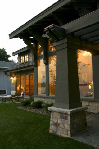 外景灰色外墙美式风格装饰设计图片