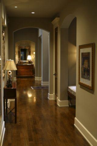 玄关咖啡色走廊美式风格效果图